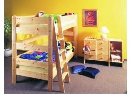 Dětská postel NELA 90x200, masiv smrk