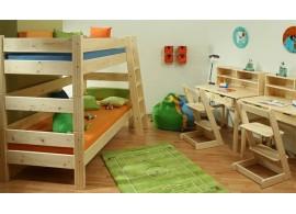 Dětská postel NELA 90x200, masiv borovice