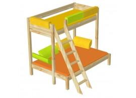 Dětská postel z masivu ERIK 90x200, borovice