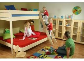 Dětská postel z masivu ZORA 90x200, borovice