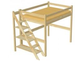 Dětská postel TORA 90x200, masiv smrk