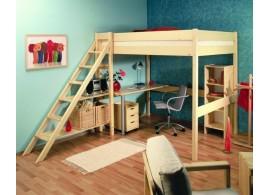 Patrová postel Ráchel se schůdky 230/32,140x200, masiv smrk