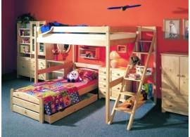 Dětská postel OLA 90x200, masiv borovice