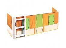 Sendy látkový domeček 407 oranžovo-zelený