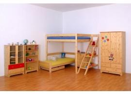Dětská poschoďová postel - palanda IDE830, z masivu smrku