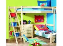 Patrová postel Ráchel 140x200 se schůdky K36-PEDRO
