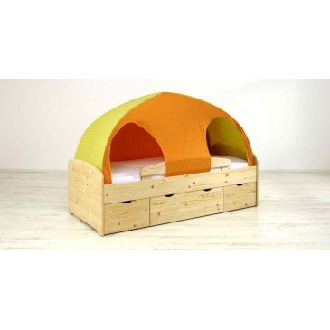 Zvýšená postel s úložným prostorem K72-PEDRO