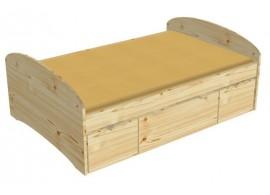 Zvýšená postel s úložným prostorem K73-PEDRO - 140x200