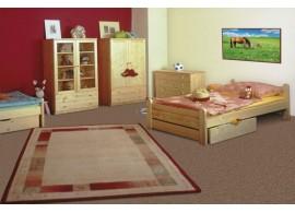 Poschoďová postel - horní spaní 140x200 DOMINO D861/DĚLENÉ, nízká, masiv smrk