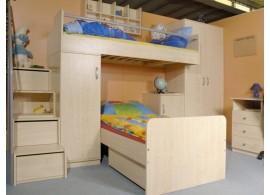 Manželská postel s rošty Barča, masiv buk