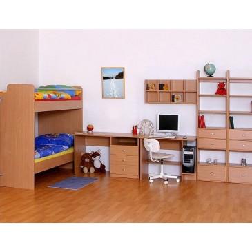 Jednolůžková postel s roštem Barča, 80x200, 90x200, masiv buk