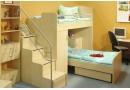 Jednolůžková postel s roštem Jirka, 120x200, 140x200, masiv buk