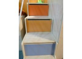 Zvýšená postel Rita, 80x200, 90x200 cm, masiv buk