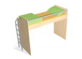Zvýšená postel s úložným prostorem Rita, 80x200, 90x200 cm, masiv buk
