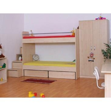 Zvýšená postel s úložným prostorem Rocco, 80x200, 90x200 cm, masiv buk