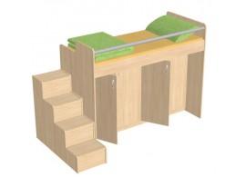 Patrová postel se skříní D54-DONALD