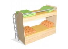 Poschoďová postel s žebříkem D55-DONALD