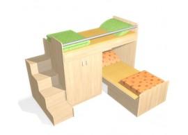 Úložný prostor pod postel CR109, fialová-bílá