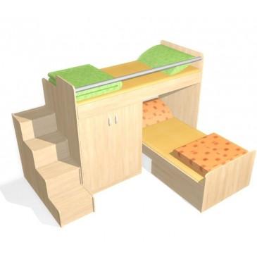 Patrová postel elko se schůdky D56-DONALD