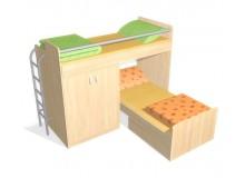 Patrová postel elko se skříní D58-DONALD