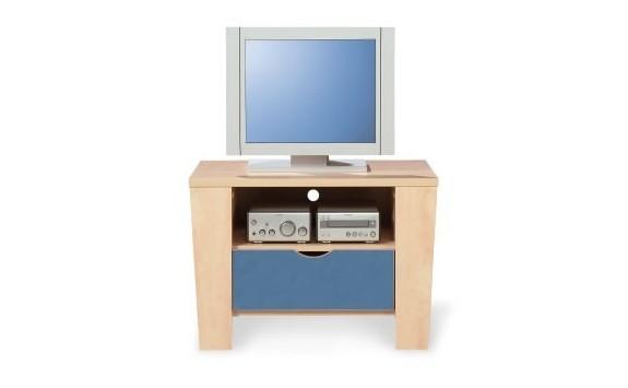 Noční stolek PR-02-PETR, bříza-modrá