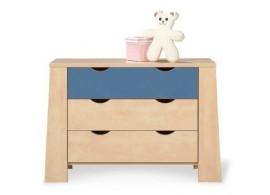 Skříňka na boxy CR119, fialová-bílá