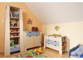 Krabice na hračky CR101, fialová-bílá