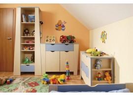 Zvýšená postel s úložným prostorem Dan, 80x200, 90x200 cm, masiv buk