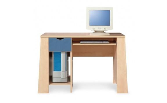 Stůl psací PR-11-PETR, bříza-modrá