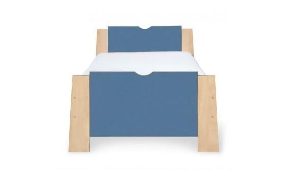 Postel - jednolůžko 90x200 PR-12-PETR, bříza-modrá
