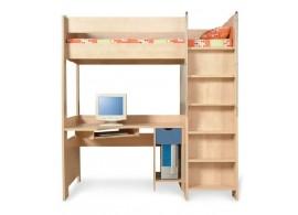 Patrová postel se skříní a stolem 90x200 PR-13-PETR, bříza-modrá