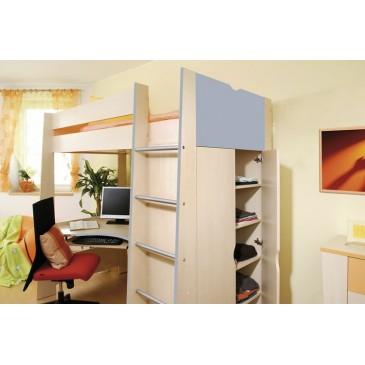 Zvýšená postel Riči, 120x200, 140x200 cm, masiv buk