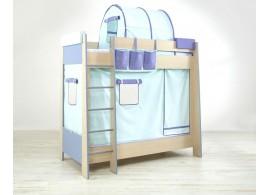 Poschoďová postel pro 2 děti 90x200 PR-16-PETR, bříza-modrá