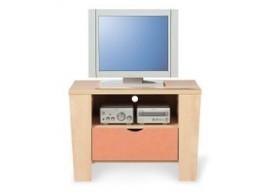 Noční stolek PA-02-PETRA, bříza-oranžová
