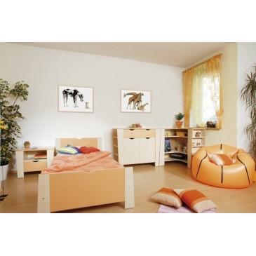 Zvýšená postel Matěj, 120x200, 140x200 cm, masiv buk