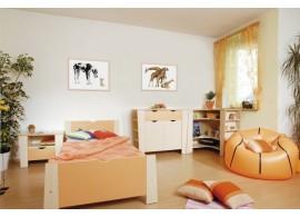Zvýšená postel s úložným prostorem Matěj, 160x200, 180x200 cm, masiv buk
