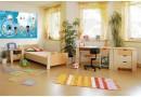 Zvýšená postel s úložným prostorem Matěj, 80x200, 90x200 cm, masiv buk