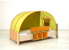 Dětská postel Sendy N300 W, masiv smrk - bílá