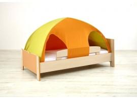 Zvýšená postel Sendy se skluzavkou N300SB B, masiv buk