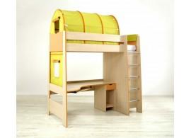 Poschoďová postel Sendy N300P B, výška 180 cm, masiv buk