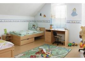 Patrová postel pro 3 děti s úložným prostorem KVIDO 2.
