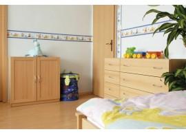 Poschoďová postel pro 2 děti s úložným prostorem BENJAMÍN