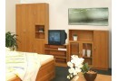 Patrová postel se skříňí, knihovnou a stolem UNITA, dub sonoma/bílá