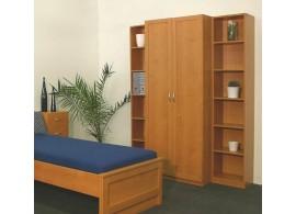 Patrová postel pro děti Střelka, lamino dub světlý / zelená