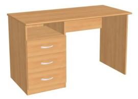 Multifunkční postel se skříní a stolem Kity, lamino dub sonoma-modrá