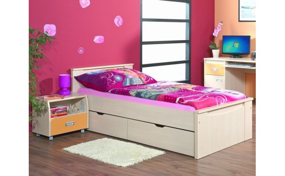 Dětská-studentská postel 90x200 FERDA-F01, bříza