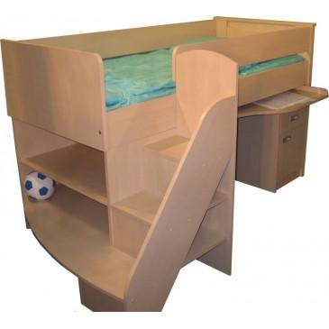 Dětská zvýšená postel FERDA-F12, bříza