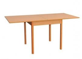 Rozkládací jídelní stůl Ludvík, lamino/masiv, 80x80 cm
