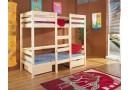 Dětská patrová postel s úložným prostorem Bartos, masiv borovice