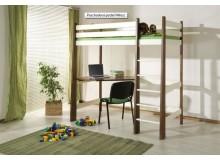 Patrová postel-horní spaní Miloš, masiv borovice